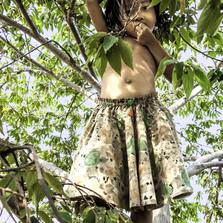 Tree Cherub / Cambodia, Nikon E5700
