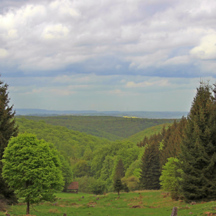Panorama in Hessen, Germany, Canon EOS 600D, Canon EF-S 55-250mm f/4-5.6 IS STM