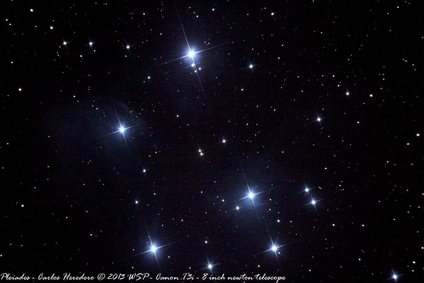 Photograph Pleiades (Subaru or Seven Sisters) by Carlos Heredero on 500px