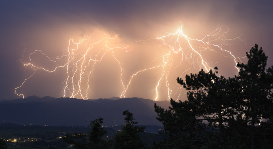 Powerful Lightning Strike by Jure Batagelj on 500px.com