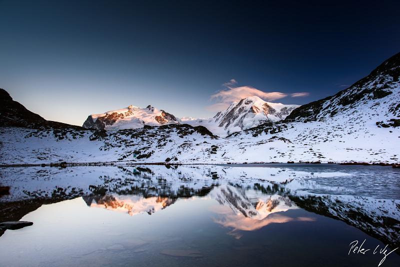 Photograph Monte Rosa and Lyskamm at Riffelsee  by Peter Wey on 500px