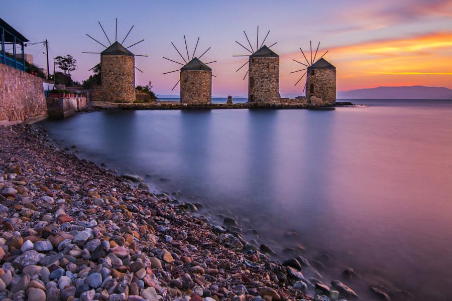 Chios Wind Mills by Gürcan Kadagan on 500px.com