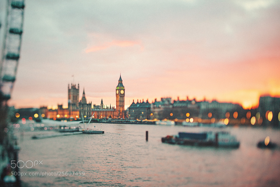 Photograph Dreamy London Sunset 2013 by Nicholas Lau on 500px