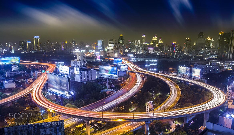 Photograph Bangkok city night  by Anek S on 500px
