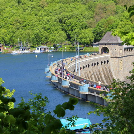 Edersee Dam, Canon EOS 600D, Canon EF-S 55-250mm f/4-5.6 IS STM