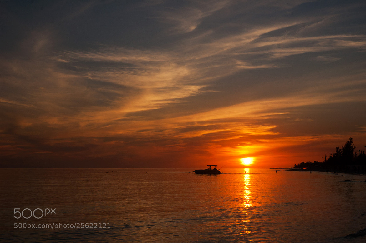 Photograph Silver Cove Sunset with Boat by Pat Burns on 500px