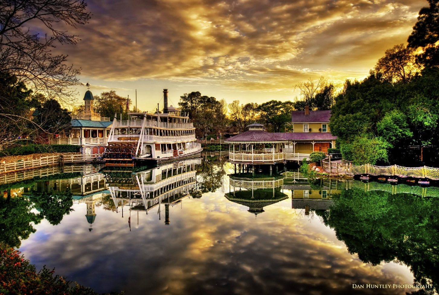 Sunset over Frontierland