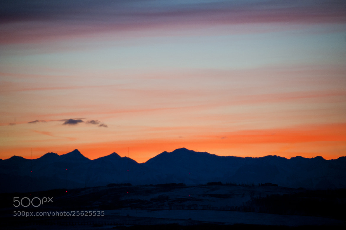 Photograph Rocky Mountain Golden Sunset by Neil Young on 500px
