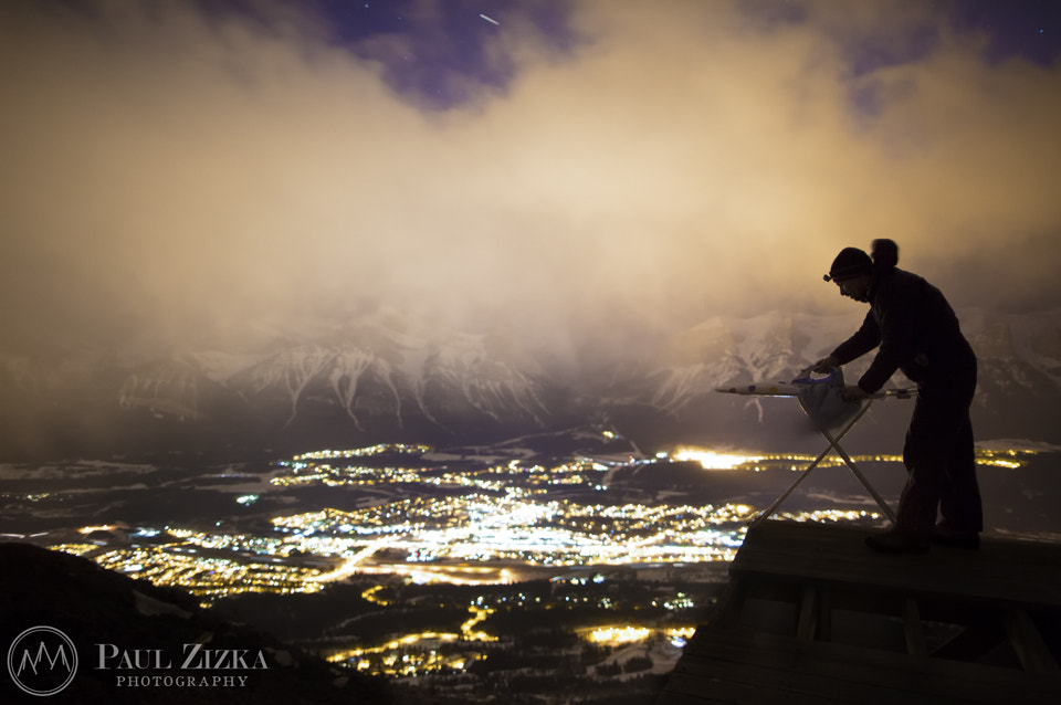 Photograph Lady Macdonald Extreme Ironing by Paul Zizka on 500px
