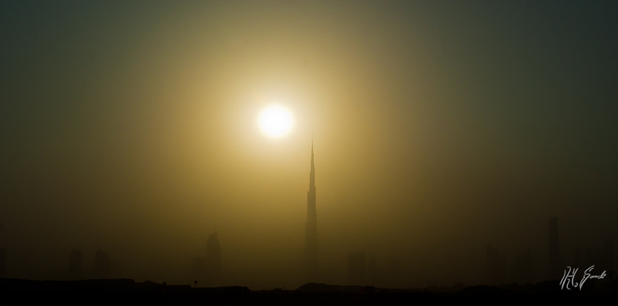 a sandstorm in Dubai..
