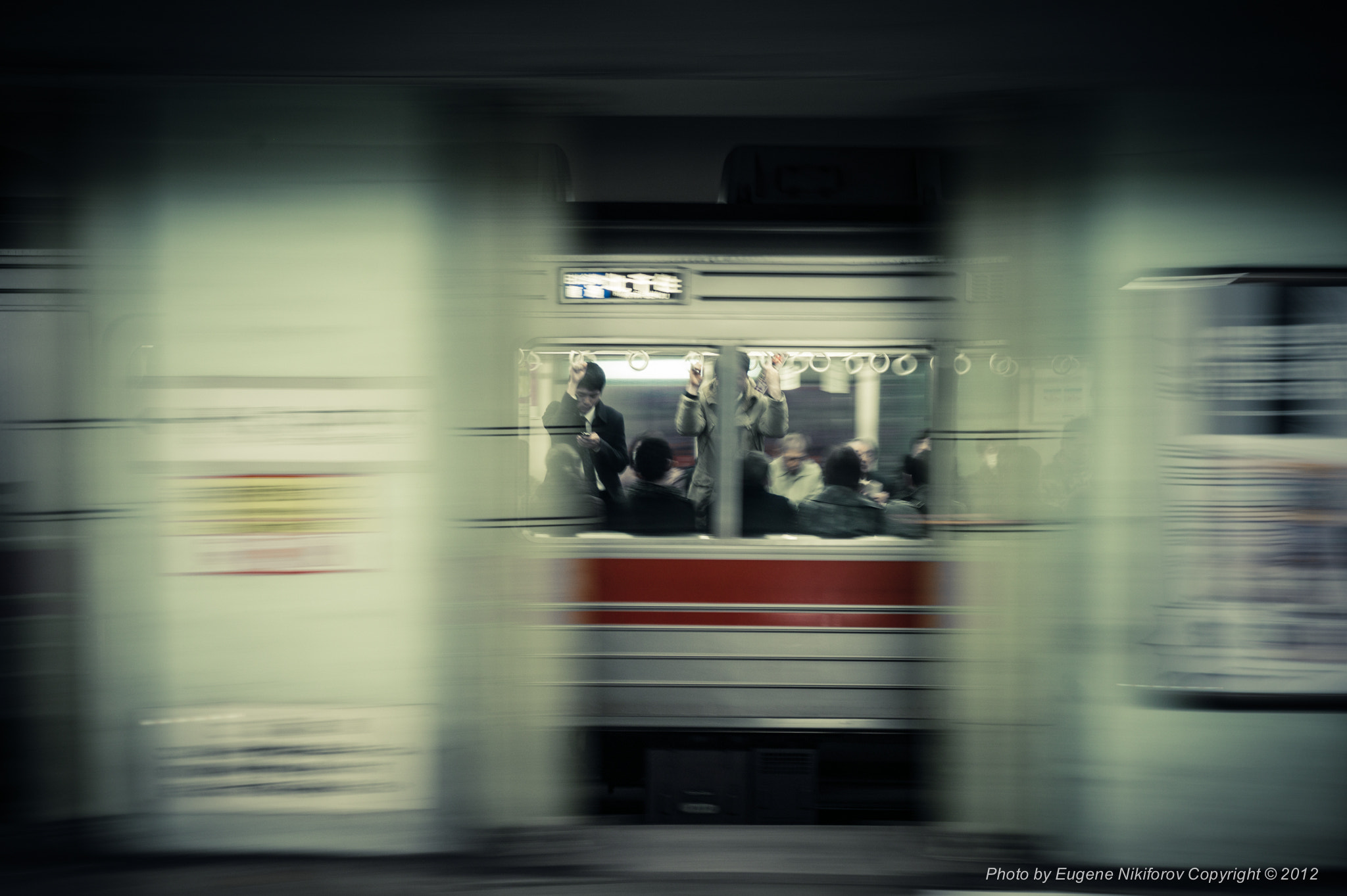 Photograph Passing by, Tokyo Subway by Eugene Nikiforov on 500px