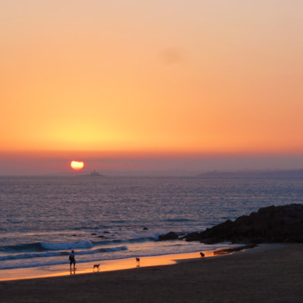 Stroll at sunset, Caparica, Nikon COOLPIX S3700