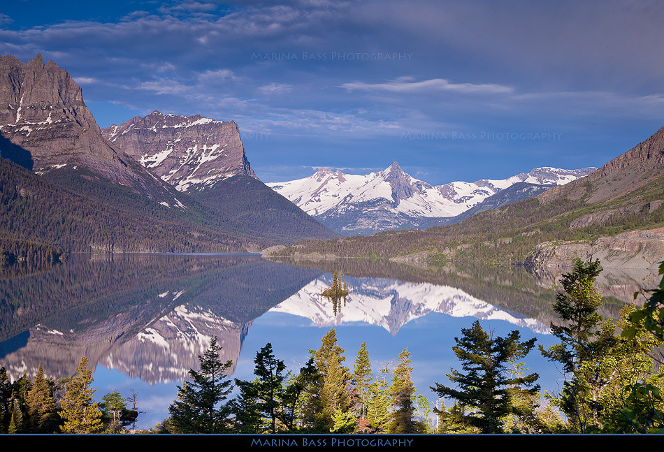 Photograph St Mary Lake & Goose Island by Marina Bass on 500px