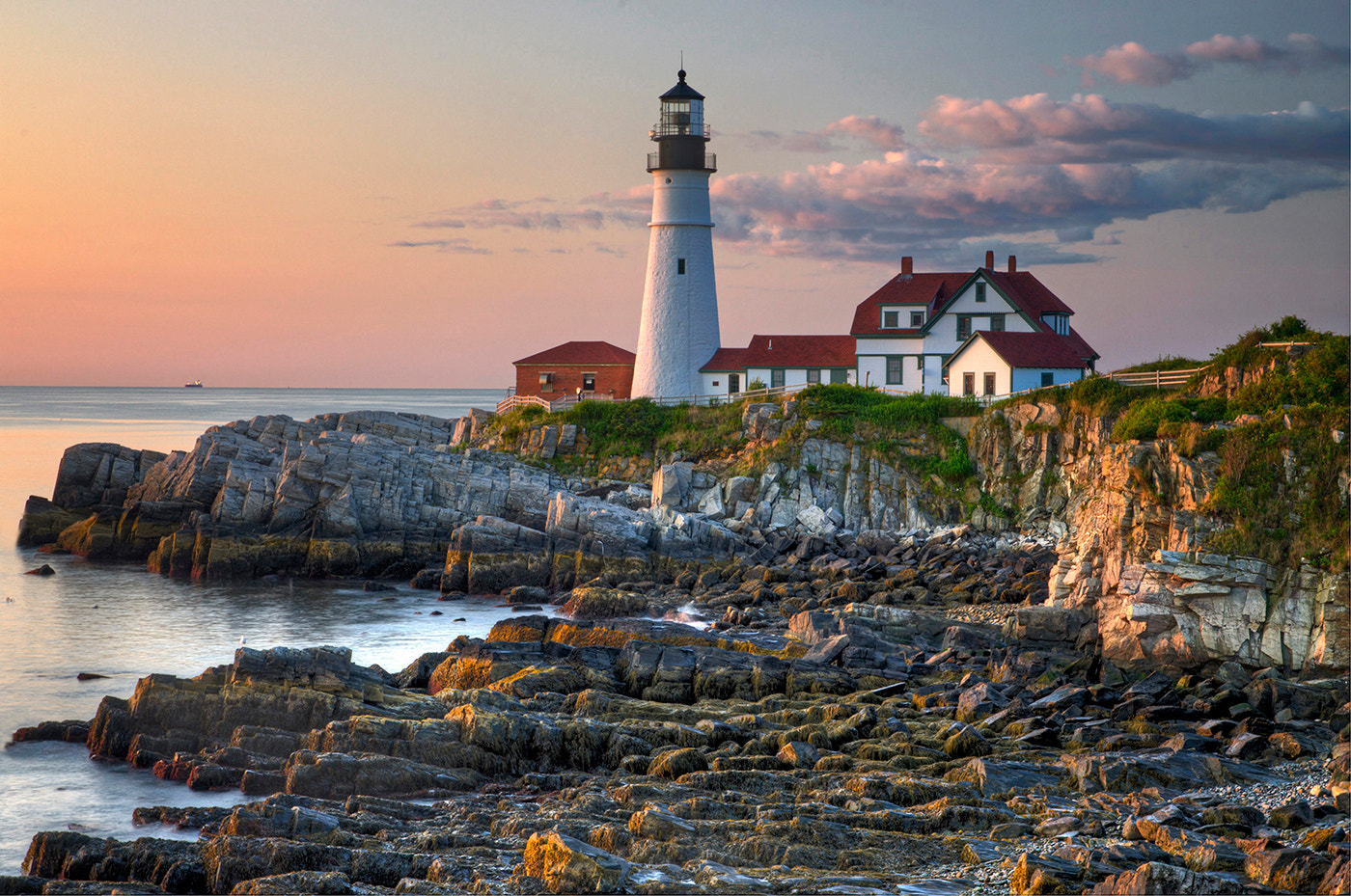 Photograph Portland Headlight, Low Tide by Alan Borror on 500px