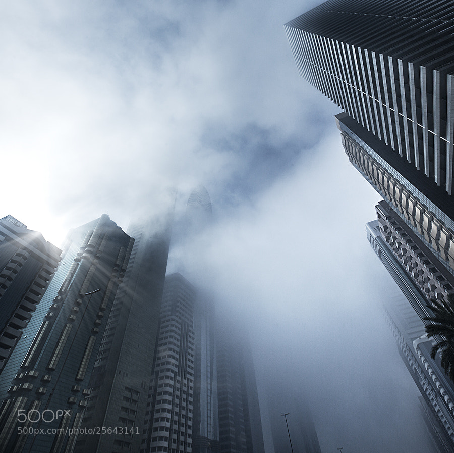 Misty morning in Dubai