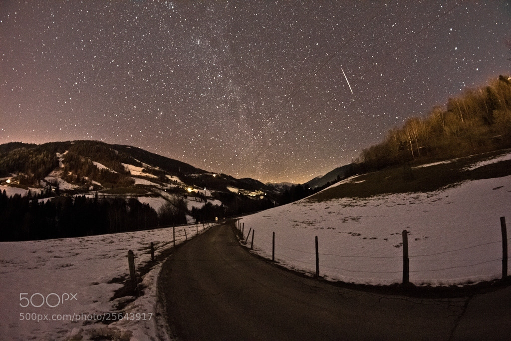 Photograph Milkyway February New Moon Shooting Star by René Pirker on 500px