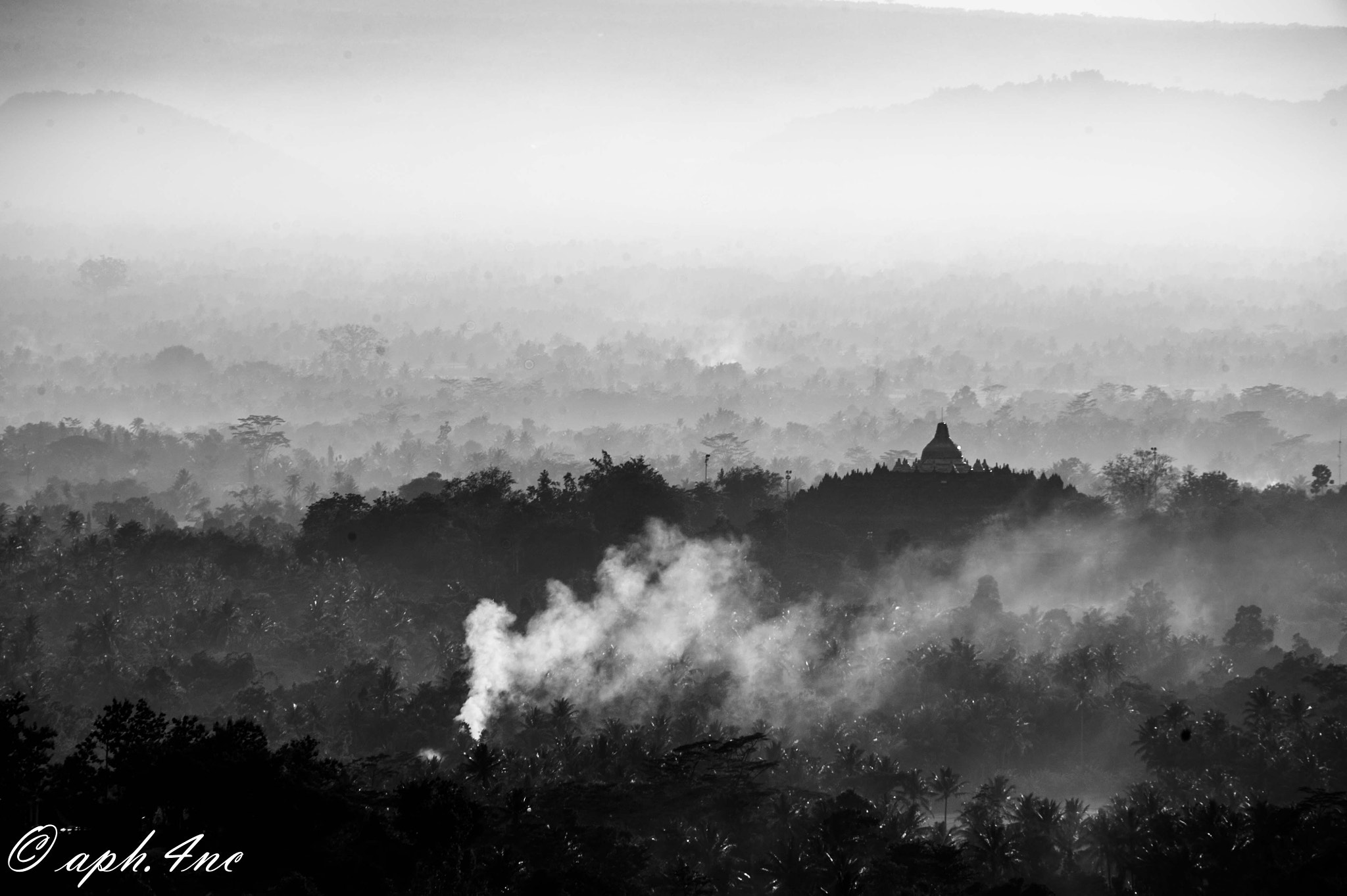 Photograph Silhouette of Borobudur Temple on B & W by Andri Heriyanto on 500px