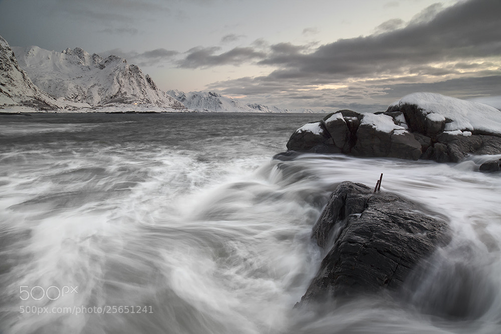 Photograph Lofoten Waves by Daniel Hannabuss on 500px