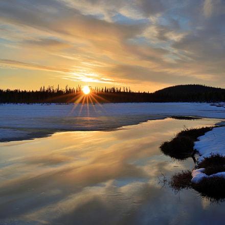 Sunset Lapland Spring, Nikon D610, Tamron SP 35mm f/1.8 VC