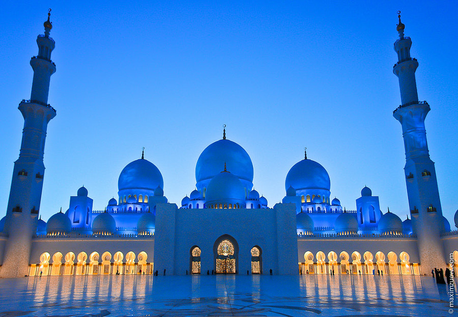 White mosque Abu-Dhabi by Max Zu on 500px.com