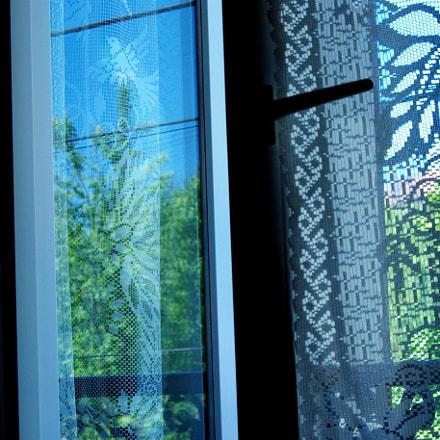 By the window, Pentax K200D