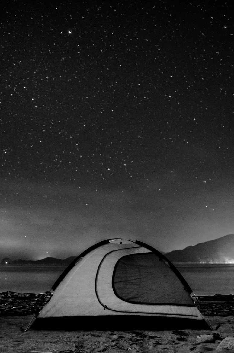 Photograph Winter Camping Under the Stars by Brad Tombers on 500px
