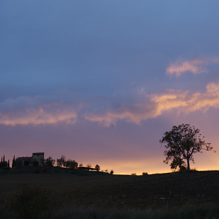 Sunset in Tuscany, RICOH PENTAX K-70, smc PENTAX-DA L 18-50mm F4-5.6 DC WR RE