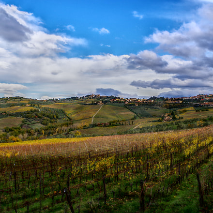 Tuscany autumn in HDR, RICOH PENTAX K-70, smc PENTAX-DA L 18-50mm F4-5.6 DC WR RE