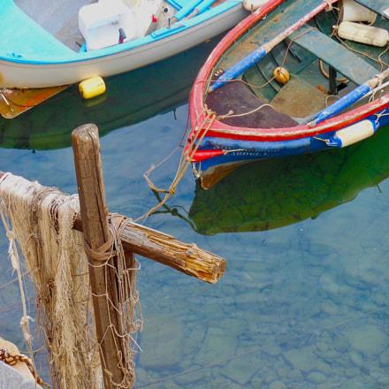 Colorful boats resting at, Nikon COOLPIX S6200