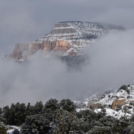 Fog Over Boulder Mountain, Nikon D7200, AF-S Nikkor 70-200mm f/4G ED VR