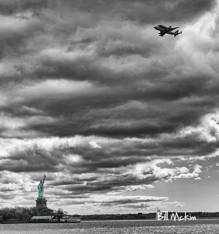 Photograph Space Shuttle over NYC by Billy Mc Kim on 500px