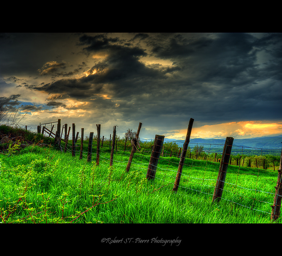 Photograph Fence and Clouds by Robert St-Pierre on 500px