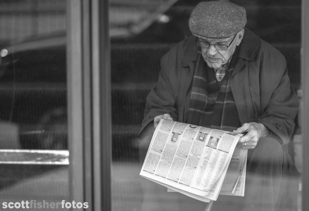 Photograph Old Man Reading Obituaries by Scott Fisher on 500px