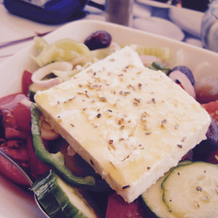 Authentic Greek Salad in, Canon POWERSHOT SD1200 IS