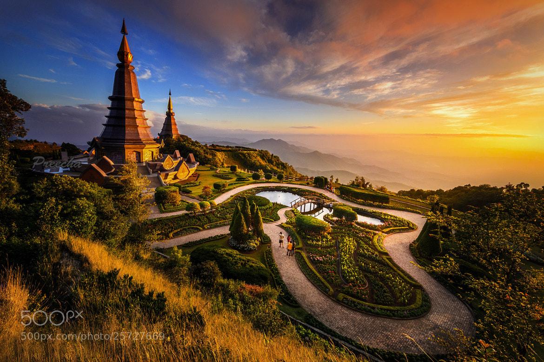 Photograph Naphamethanidon & Naphapholphumisiri Pagoda by SKYDANCER ! on 500px