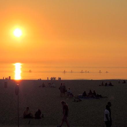 North sea sunset, Nikon COOLPIX P300