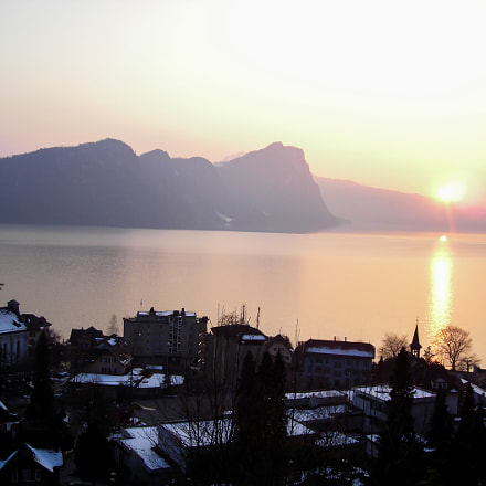 Swiss Sunset., Nikon COOLPIX L2