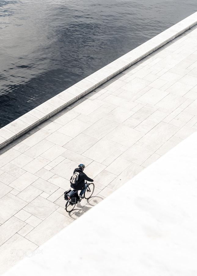 A biker in Oslo