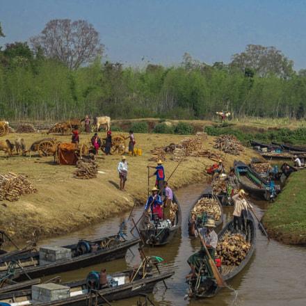 Firewood market on Inle, Canon POWERSHOT D10