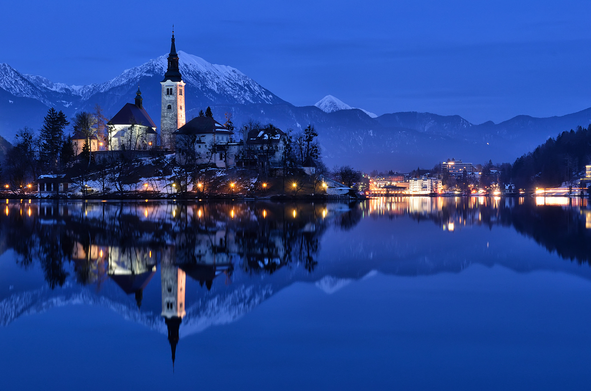 Photograph Bled Blue Hour by Csilla Zelko on 500px