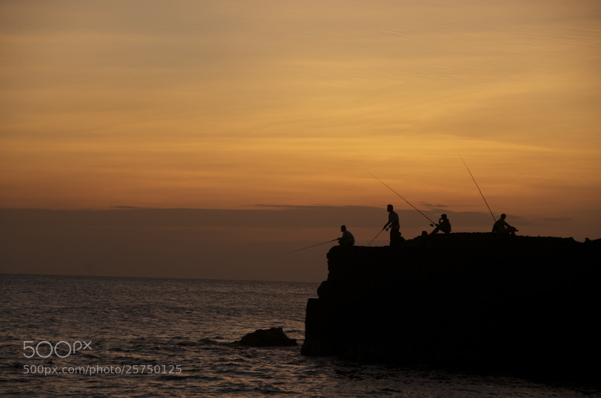 Photograph Fishing in sunset by Irondaze  on 500px