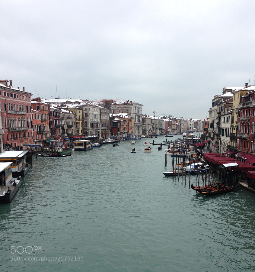 Photograph Venice in the snow  cold day by Bob Riach on 500px