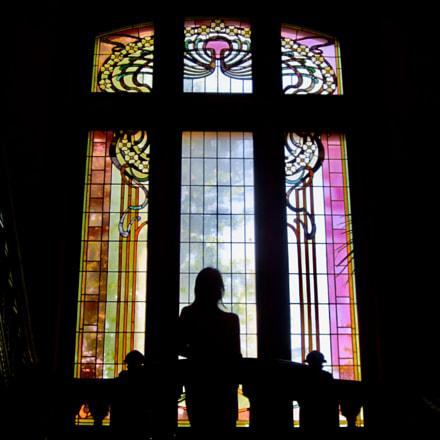 Beautiful stained-glass window, Canon IXUS 105