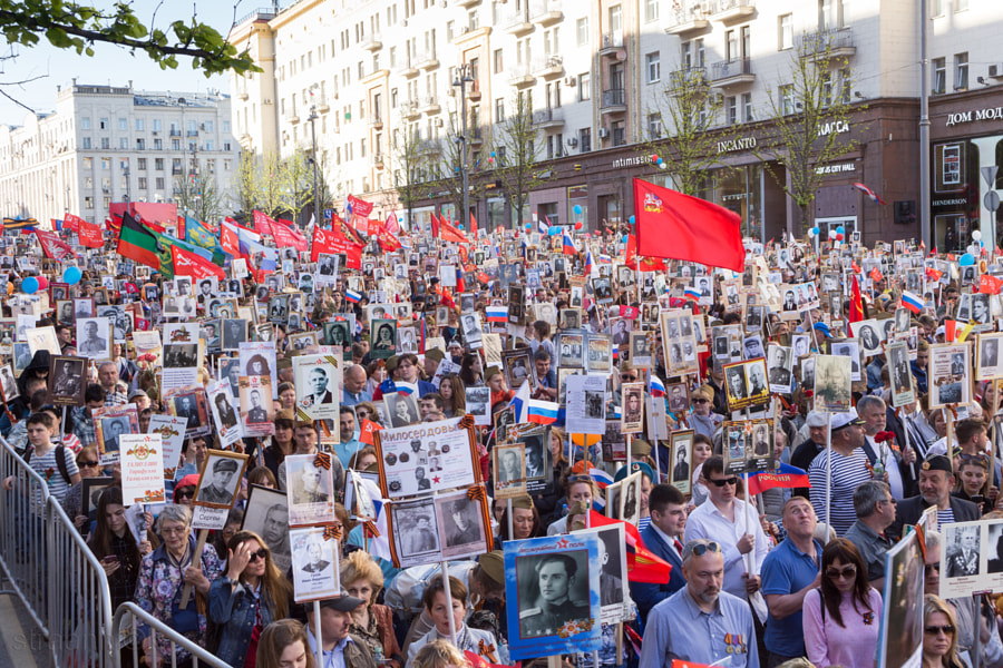Immortal Regiment procession in Moscow by Oleg Ivanov on 500px.com