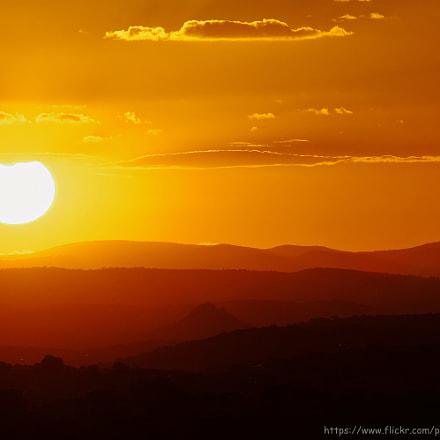 Sunset in Sierra Morena, RICOH PENTAX K-3 II, Sigma 50-500mm F4.5-6.3 DG OS HSM