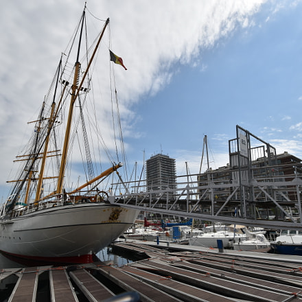 Mercatorschip in Oostende, Nikon D5600, AF-S DX Nikkor 10-24mm f/3.5-4.5G ED