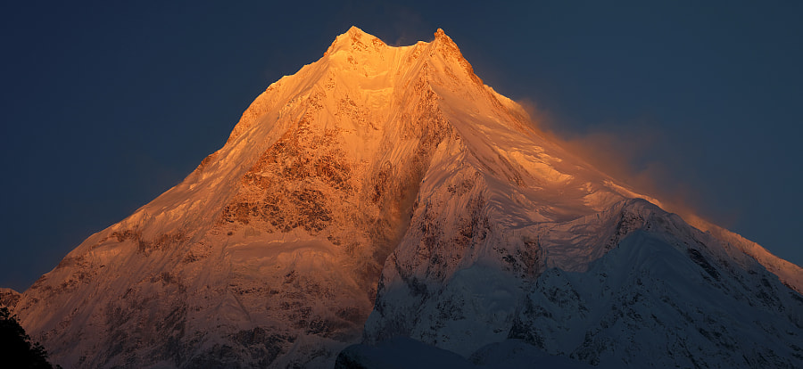 Morning in the Himalayas. Manaslu - 8156 meters, автор — Сергей К на 500px.com