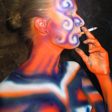 Smoking Body Art, Canon POWERSHOT G5