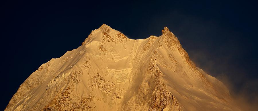 Panorama of the mountain peak Manaslu - 8156 m, автор — Сергей К на 500px.com