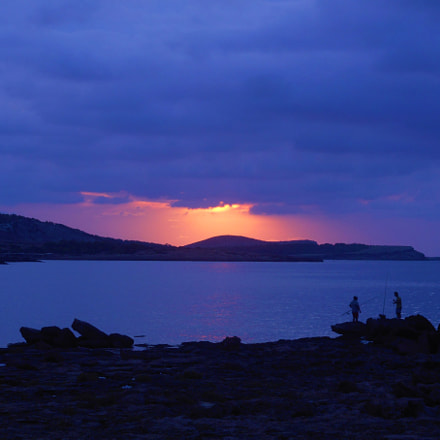 Sunset over Ibiza, Spain, Nikon COOLPIX S3700